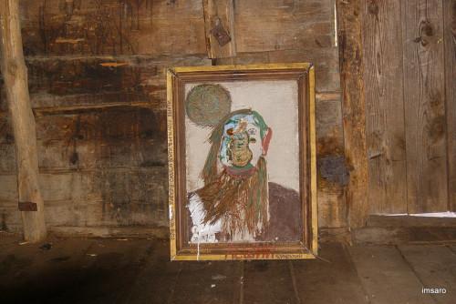 Автопортрет лешего. Водяная мельница. Лох. Новобурасский район. Саратовская область.