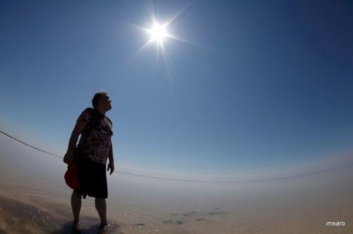 Солнце. Природный парк Эльтонский. Озеро Эльтон. Палласовский район. Волгоградская область.