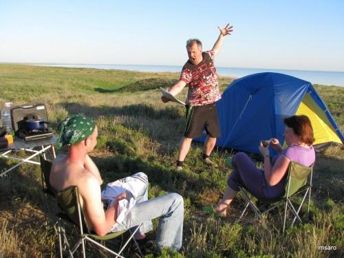 Штурман-фотограф нашей экспедиции. Природный парк Эльтонский. Озеро Эльтон. Палласовский район. Волгоградская область.